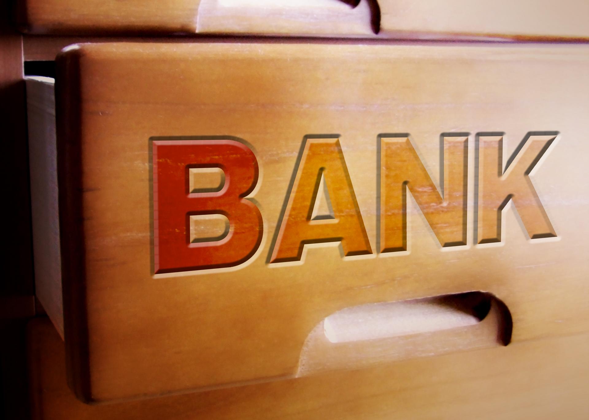 銀行のマーク