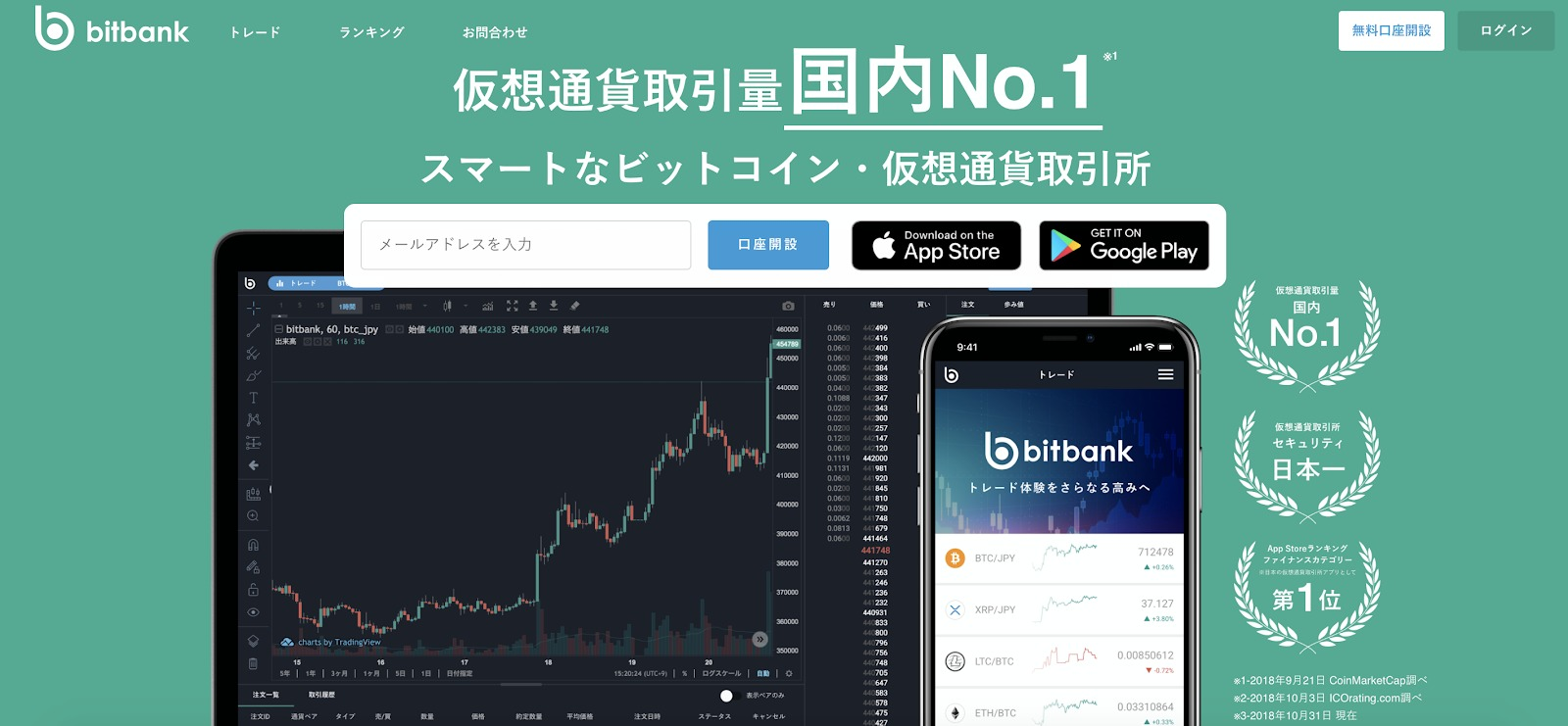 bitbankトップページ